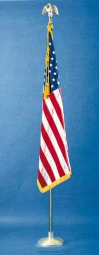 3 39 X5 39 3x5 Ft Nylon Indoor Parade Flag Pole Sets 8 Ft