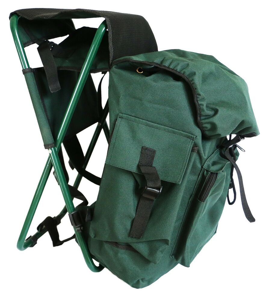 Hunting Fishing Pack With Stool Seat Chair With Bag
