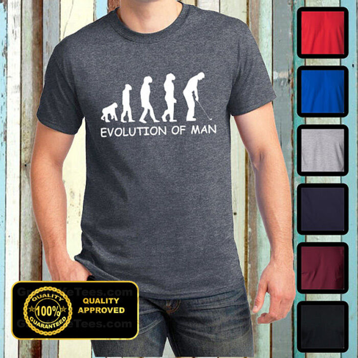 evolution of man golfing t