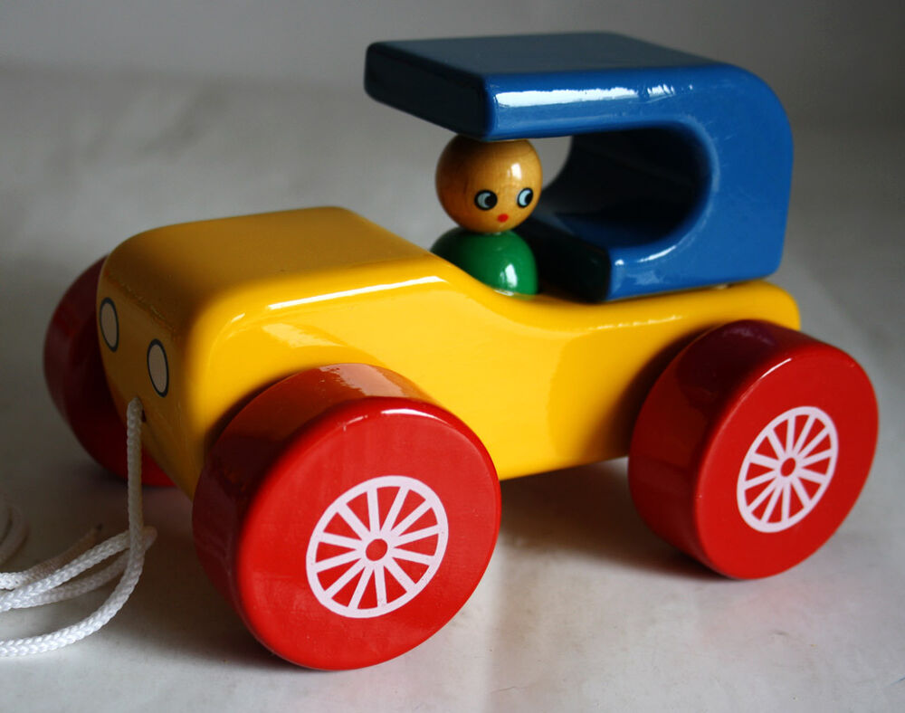 Ultra rare vintage kouvalias old funny car wooden greek