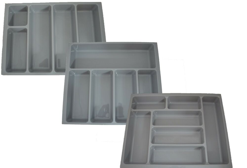 Kitchen Cutlery Tray Insert Grey To Fit 400mm 500mm