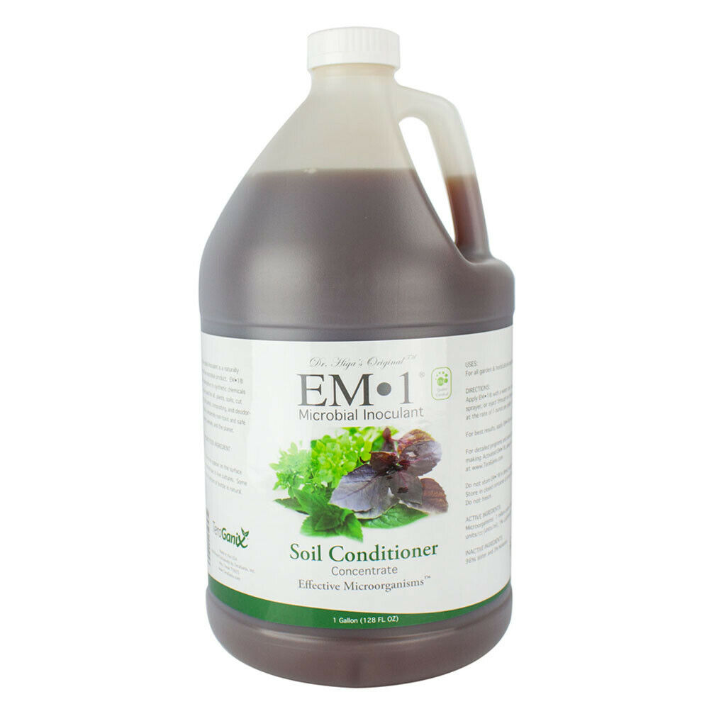 Teraganix em 1 soil conditioner concentrate microbial for Organic soil