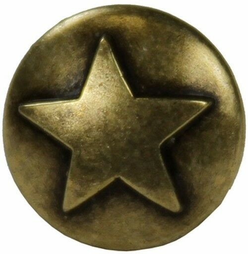 Western Decorament 25 5 8 Quot Antique Brass Star Upholstery