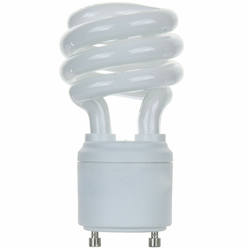 new 13w cfl mini spiral gu24 base 4100k cool white 60w. Black Bedroom Furniture Sets. Home Design Ideas