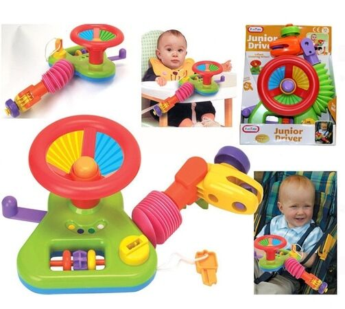 Toddler Toys Physical Toys : Junior driver car steering wheel activity toy for buggy