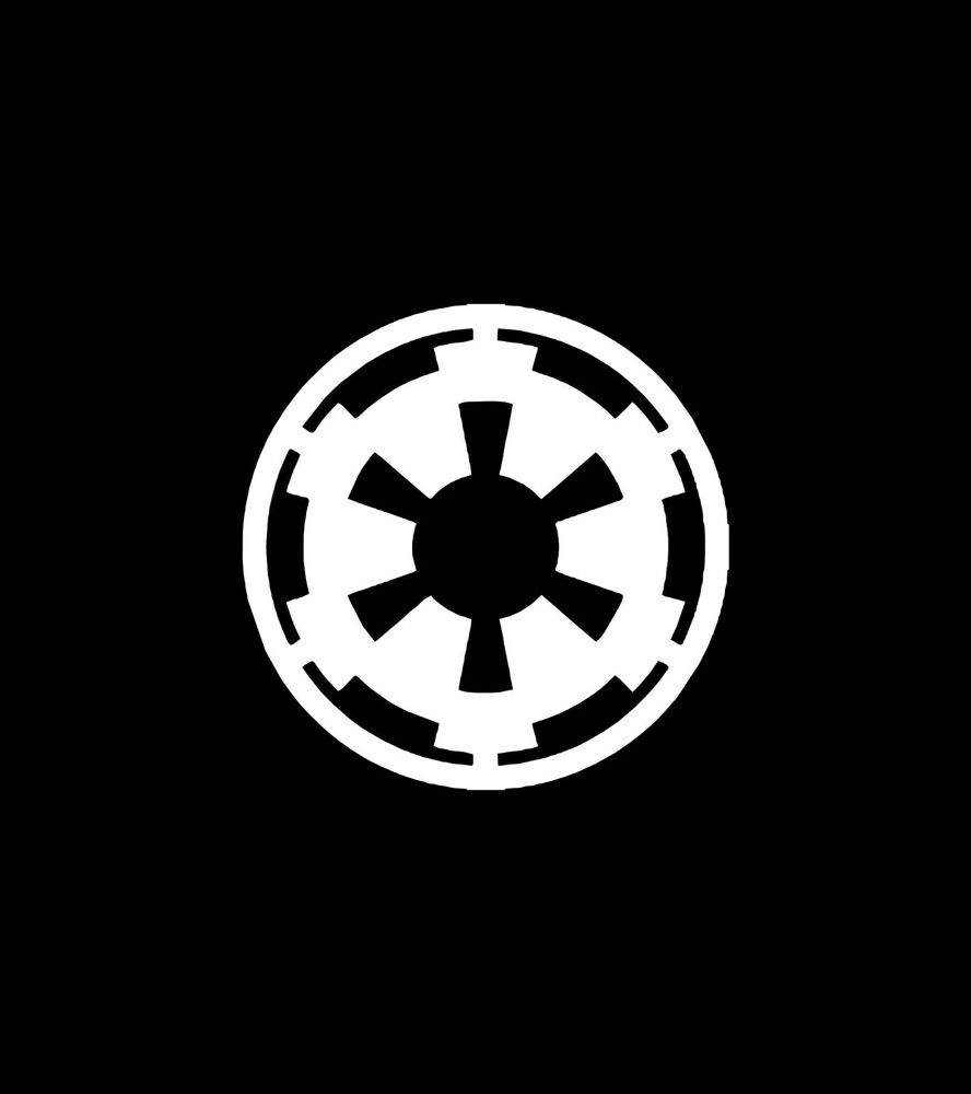 Star Wars Galactic Empire Logo Symbol Diecut 2 Decals 46 Ebay