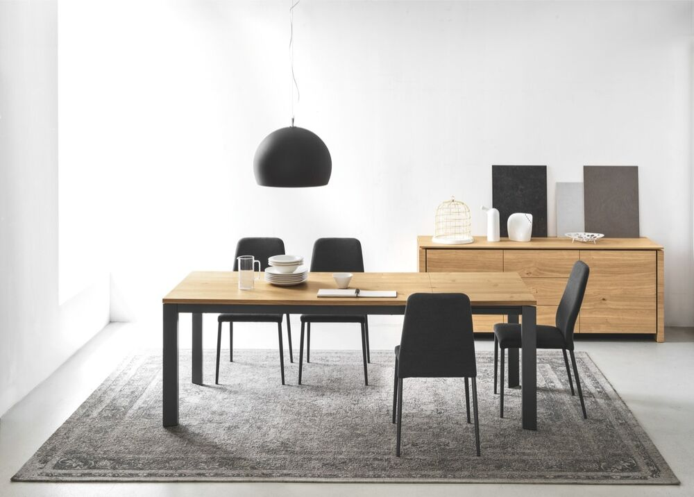 calligaris connubia tisch baron 4010 ml 160 cm gestell grau tischplatten eiche ebay. Black Bedroom Furniture Sets. Home Design Ideas