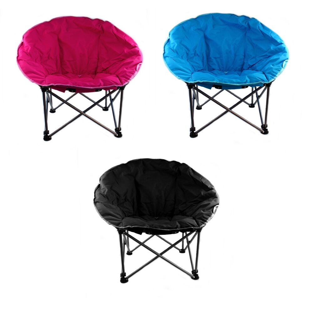 Moon Chair Folding Camping Garden Outdoor Padded Fishing