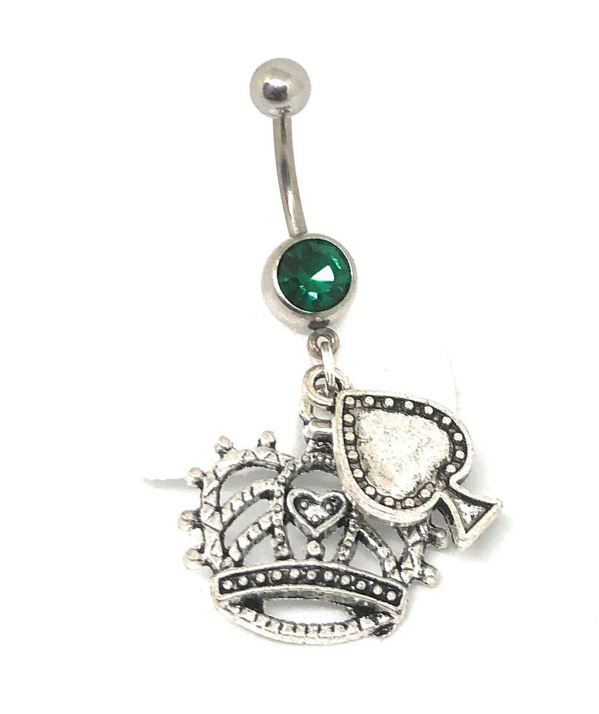 """Queen Of Spades"" Navel Ring Dangle Belly Piercing CUCKOLD ..."