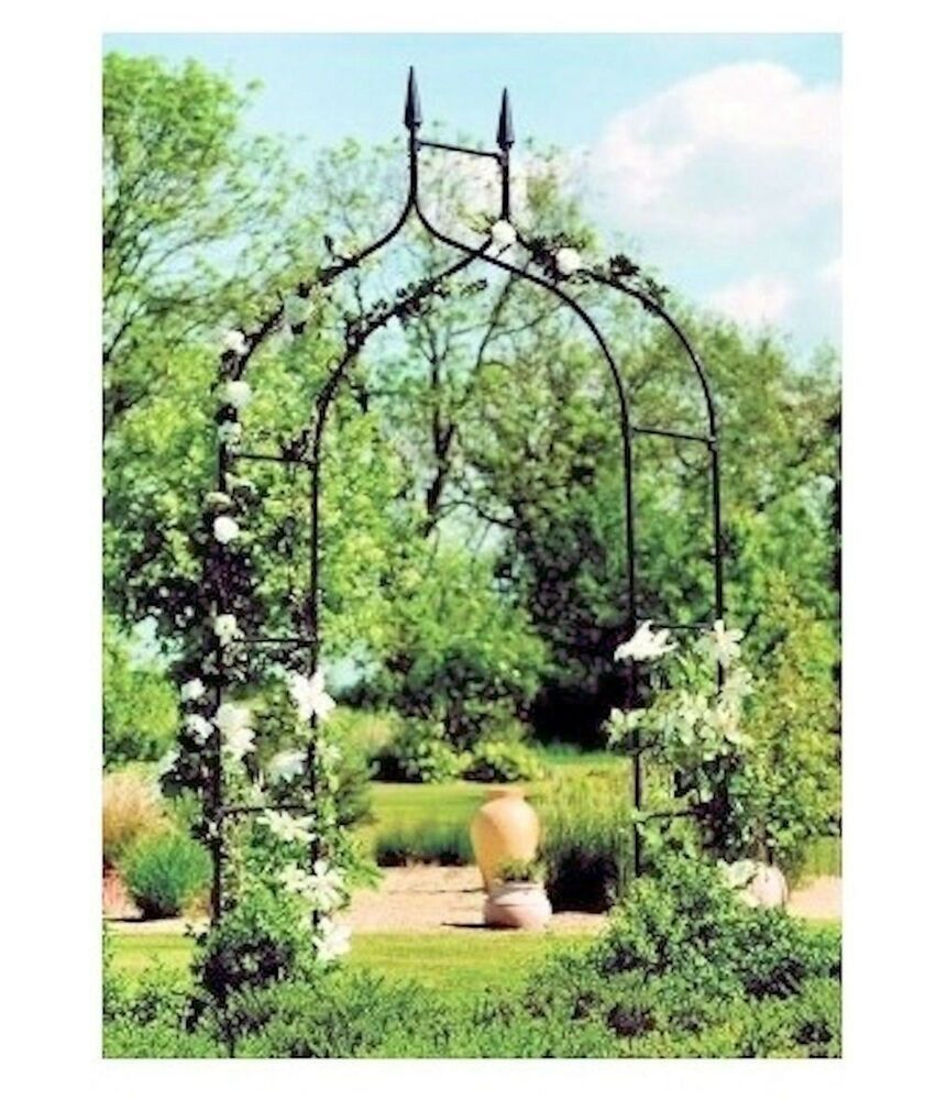 arch trellis black yard garden patio backyard path archway arbor wedding decor ebay