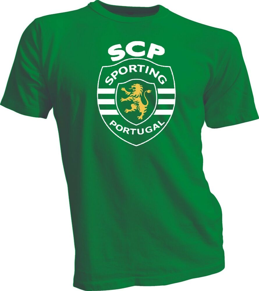 sporting clube de portugal football soccer t shirt uefa europe new ebay. Black Bedroom Furniture Sets. Home Design Ideas