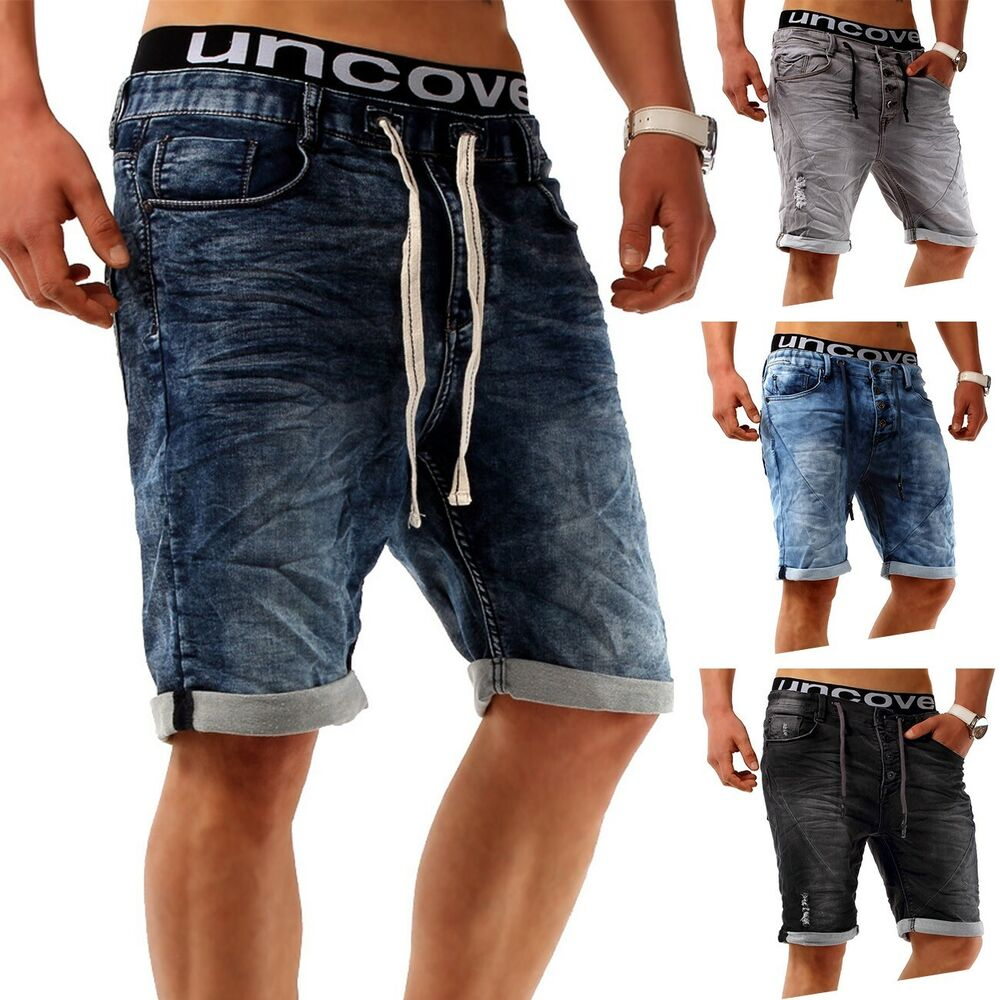 herren shorts jeans hose used jogg denim stretch joggjeans. Black Bedroom Furniture Sets. Home Design Ideas