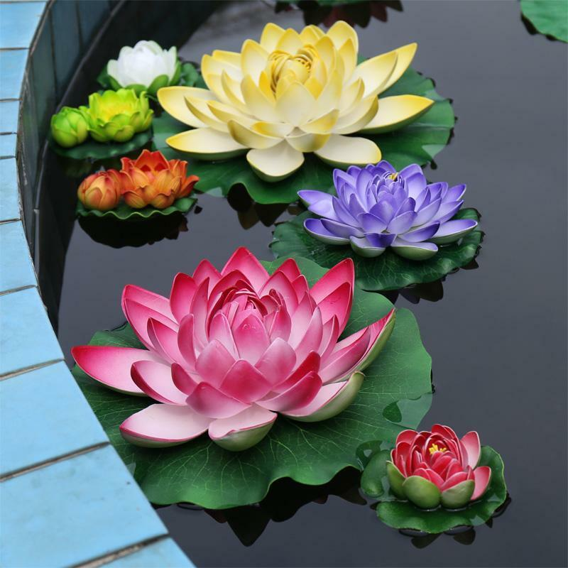 6 7 inches artificial flowers silk water lily lotus pond