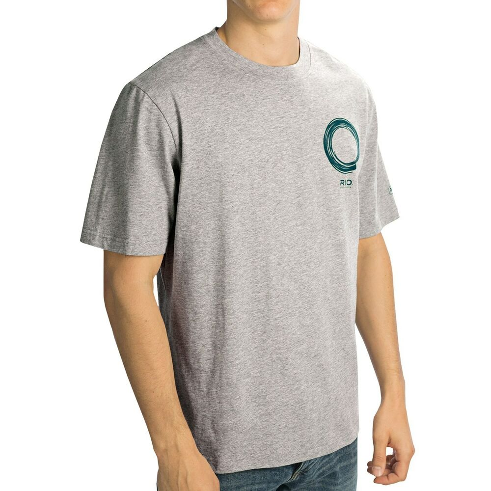 Rio fly fishing line t shirt s s tee color grey size for 4xl fishing shirts