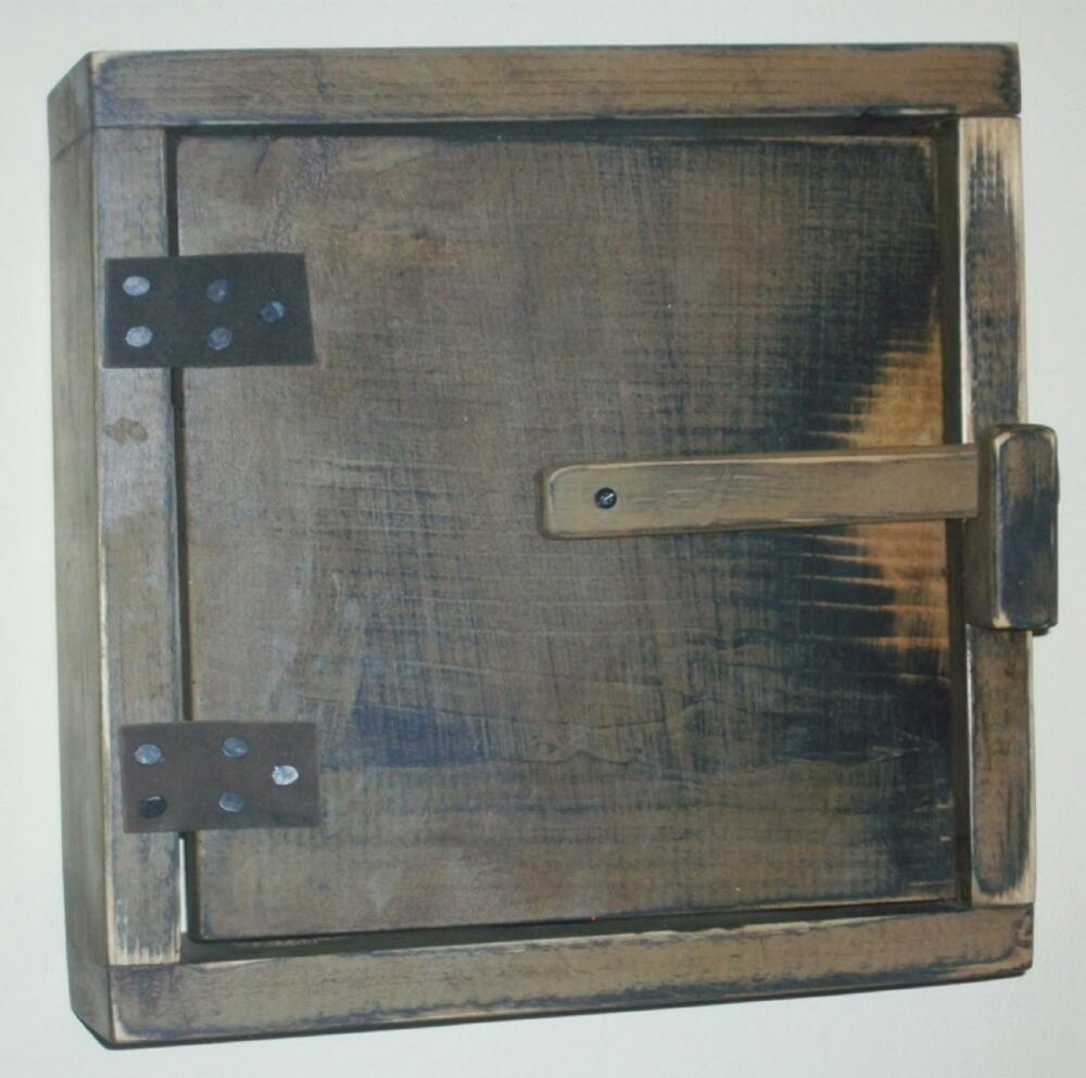 Primitive Wood Door Bell Cover or Control Box Cover