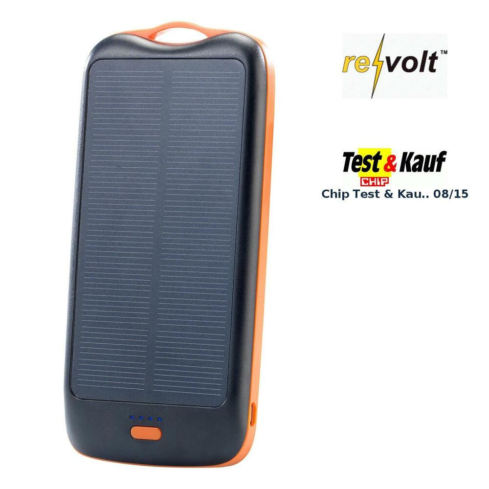 revolt solar powerbank pb 50 s mit mah ladestand anz 1x usb ebay. Black Bedroom Furniture Sets. Home Design Ideas