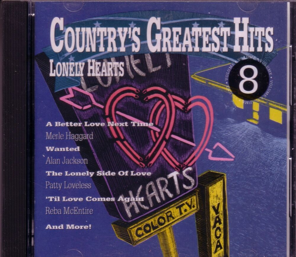 Countrys Greatest Hits Vol 8 Lonely Hearts Cd Classic 70s