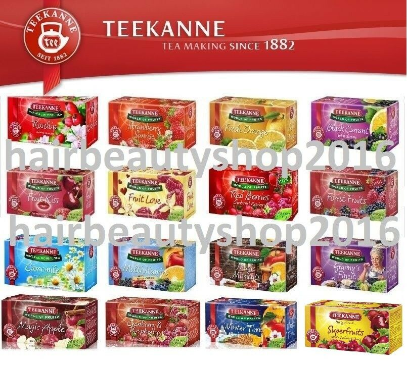 teekanne fruit tea caffeine free 20 bags 15 different flavours ebay. Black Bedroom Furniture Sets. Home Design Ideas