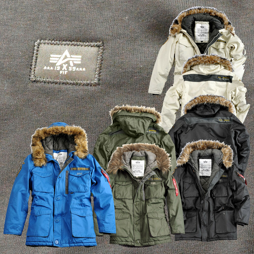 alpha industries herren jacke mountain parka winterjacke. Black Bedroom Furniture Sets. Home Design Ideas