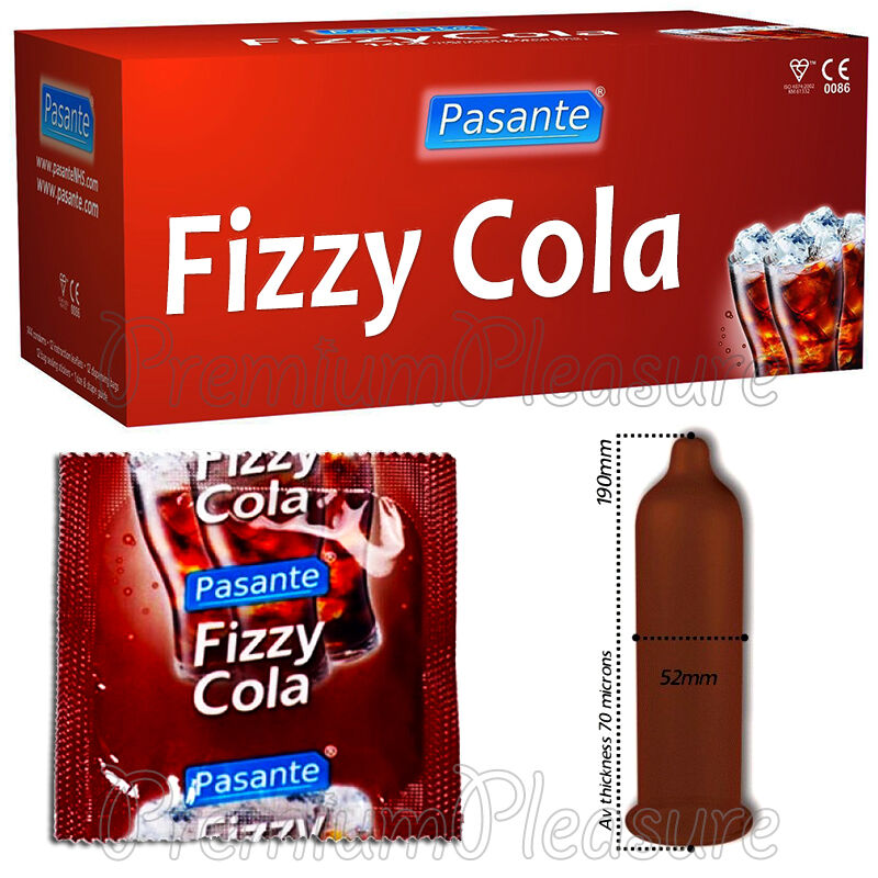 Pasante Fizzy Cola drink * Flavored condoms x 1 - 3 - 10 ...