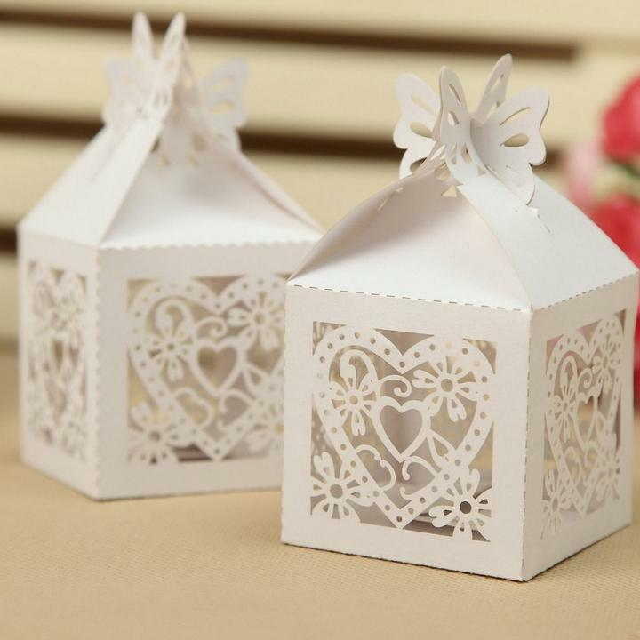 Wedding Gifts Wholesale: Wholesale Laser Cut 8 Style Favor Candy Gift Boxes With