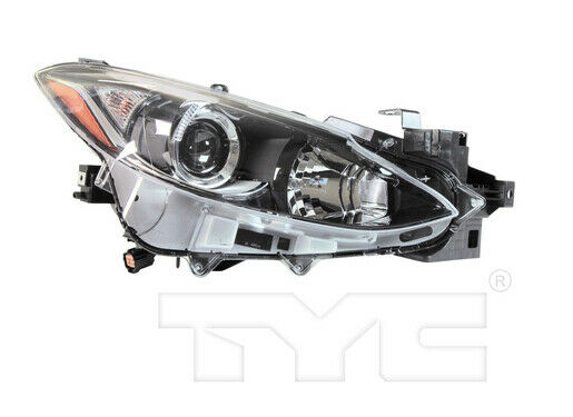 tyc right side halogen headlight assembly for mazda 3 2014. Black Bedroom Furniture Sets. Home Design Ideas