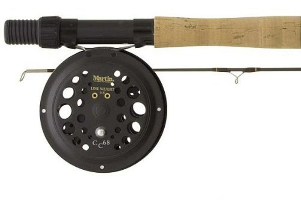 Martin fly fishing caddis creek fishing rod and reel combo for Trout fishing rod and reel