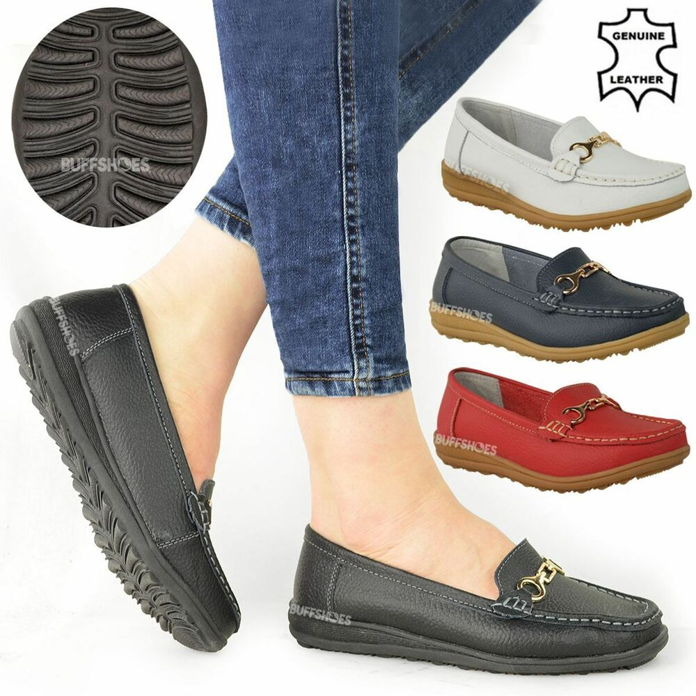 Womens Leather Walking Shoes Ladies