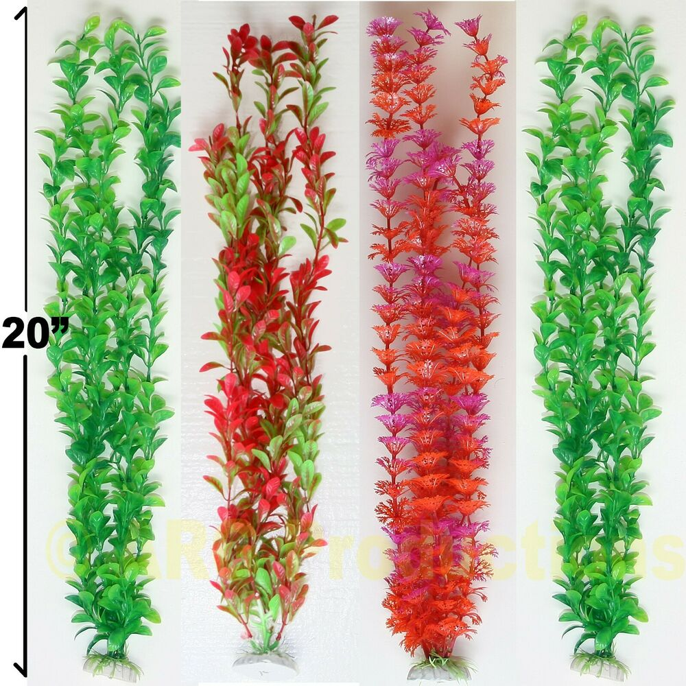 "LOT OF 4 - 20"" ARTIFICIAL PLASTIC DECORATION PLANTS FOR ..."