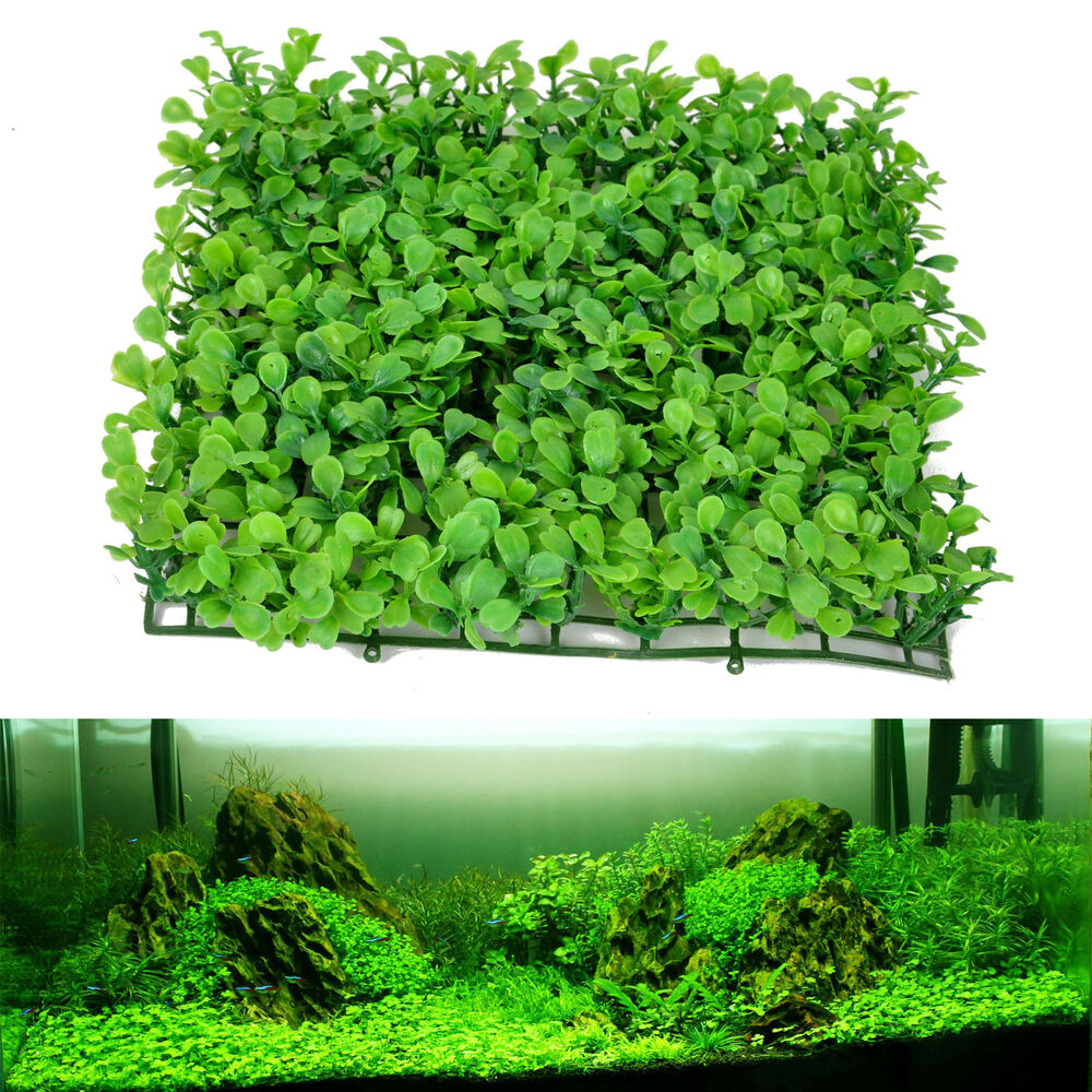Artificial water aquatic green grass plant lawn aquarium for Tartarughiera