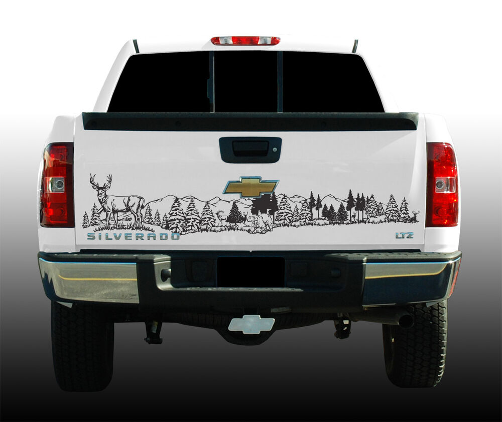 Wildlife Tailgate Graphic Deer Scene X Vinyl Decal EBay - Rear window hunting decals for trucksrear window graphics deer ebay