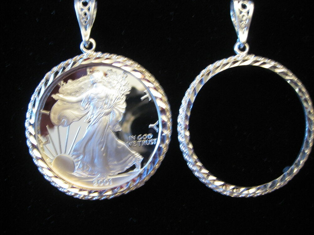 Walking Liberty One Ounce Coin Holder Amp Pendant Sterling