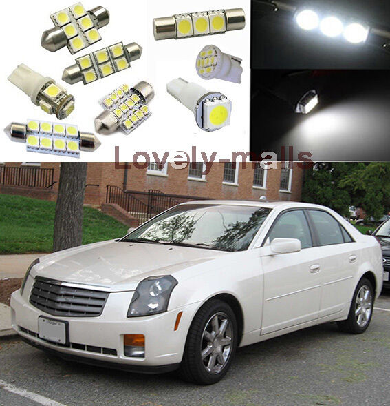 White SMD Car Lights Interior LED Package Kit For Cadillac