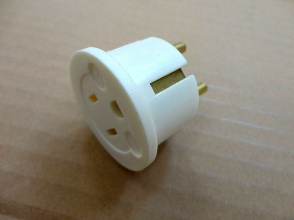 4 Pack 3 Prong American To European 2 Round Wall Outlet