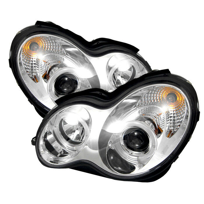 Mercedes benz 01 07 w203 4dr c230 c240 c320 c43 dual halo for Mercedes benz projector lights
