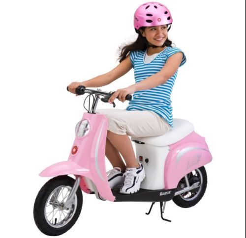 Razor Pocket Mod Bella Girls Electric Ride On Bike Scooter