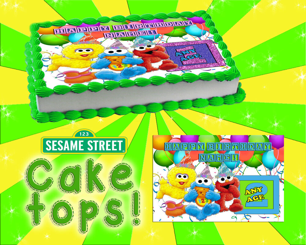 Sesame Street birthday edible Cake toppers picture decal ...