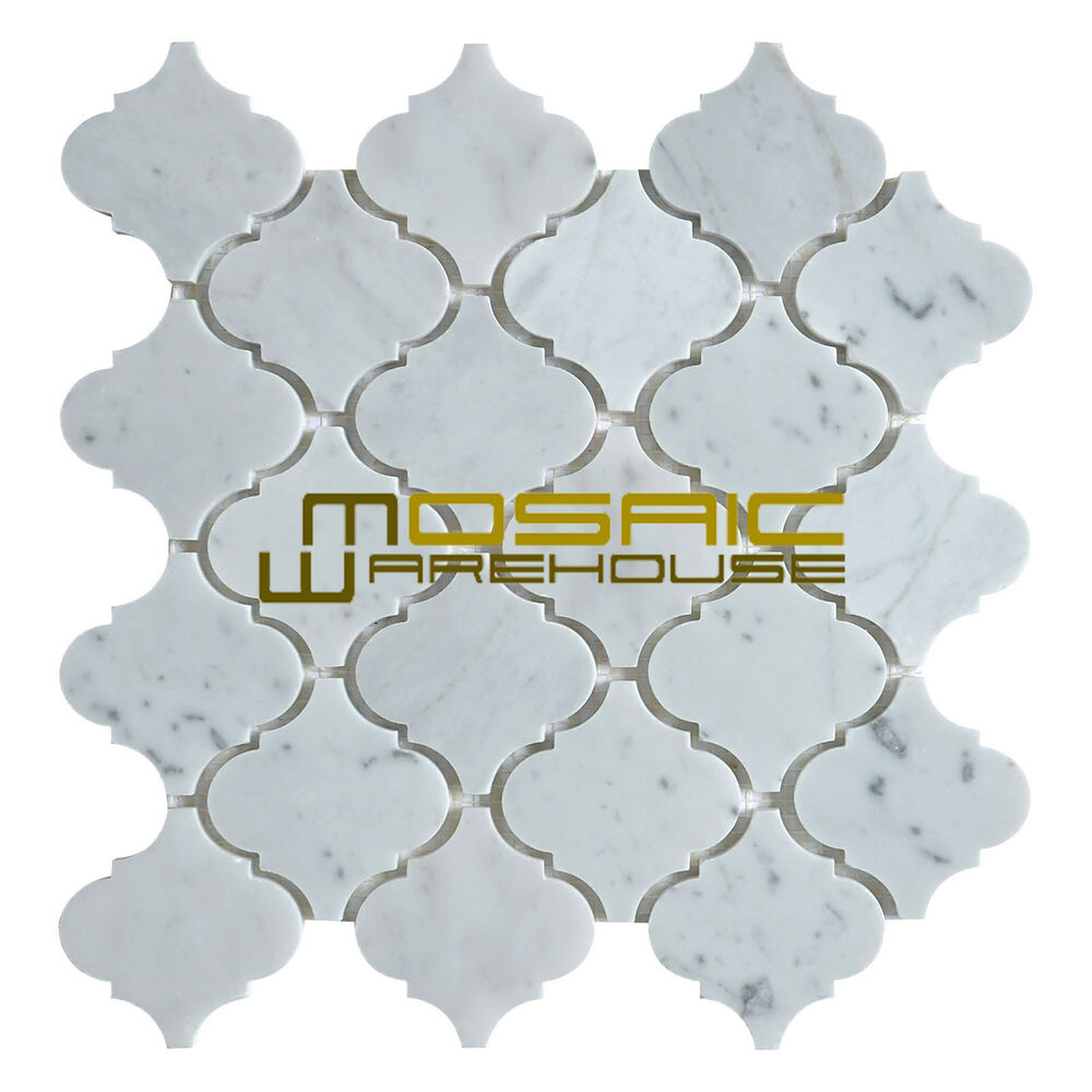 Marble Mosaic Tile Quot Lantern Collection Quot Mm 9201 Carrara