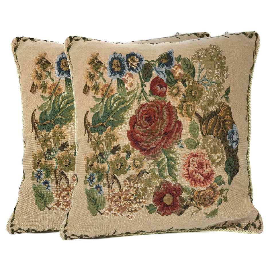 Throw Pillows For A Floral Couch : Tache 2PC Floral Rustic Morning Meadow Antique Accent Cushion Throw Pillow Cover eBay