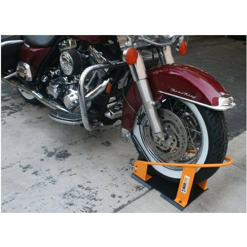 Motorcycle Bike Wheel Chock Garage Floor Truck Trailer