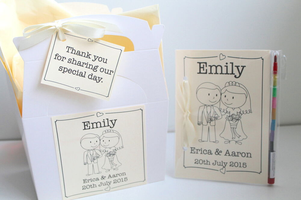 Personalised Child Wedding Activity Pack Book Gift Box Bag Favour ...