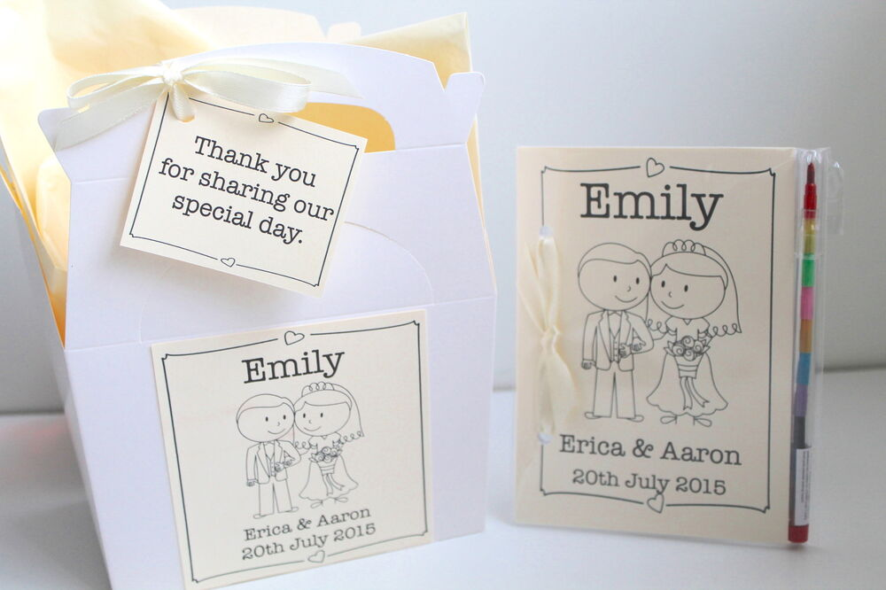 Personalised Wedding Gift Book : Personalised Child Wedding Activity Pack Book Gift Box Bag Favour ...