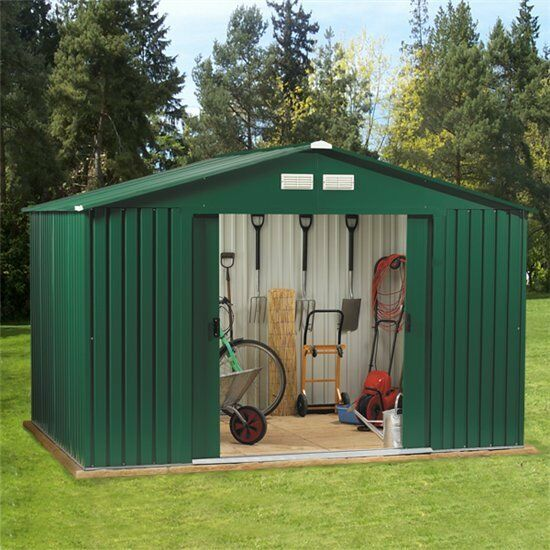 Metal garden shed 10 x 8 outdoor storage 10x8 with free for Garden shed tab