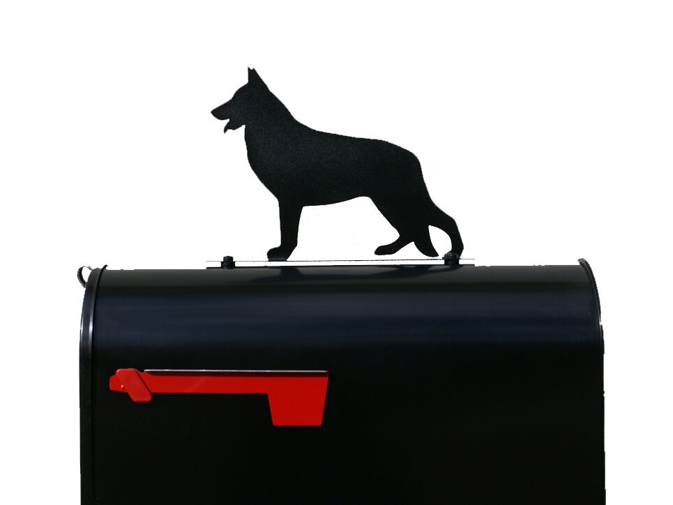 German Shepherd Silhouette Mailbox Topper / Sign - Powder