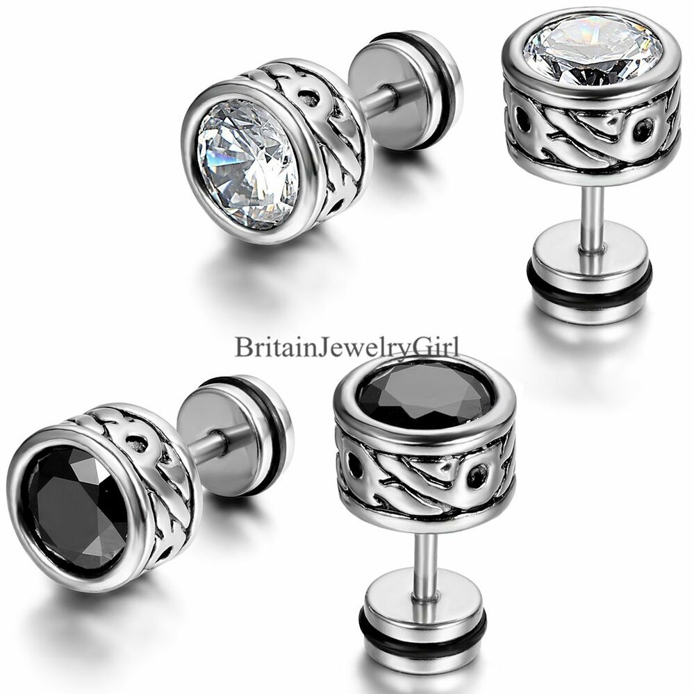 Classical Cubic Zirconia Round Totem Men Women Stainless ...