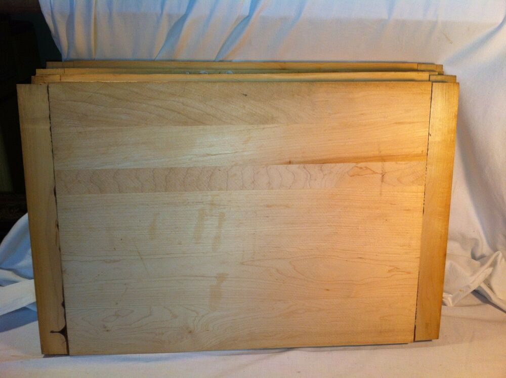 Cutting board maple wood butcher kitchen reversible thick