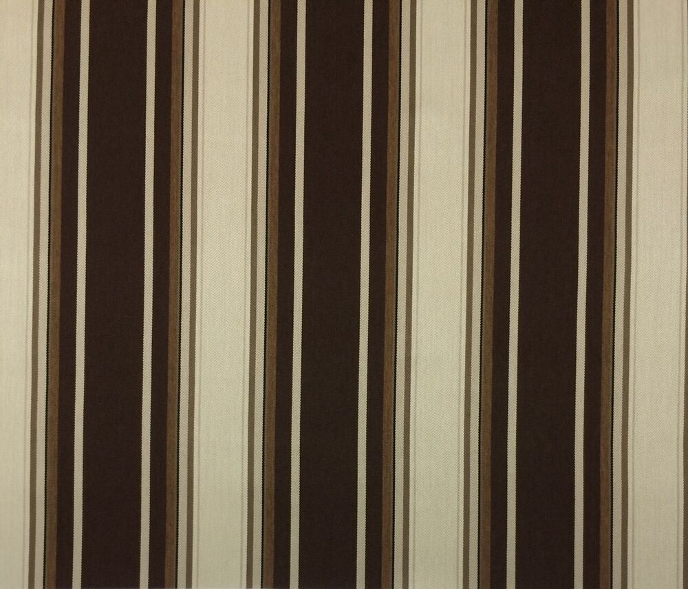 Sunbrella marston walnut brown woven stripe outdoor fabric for Outdoor fabric by the yard