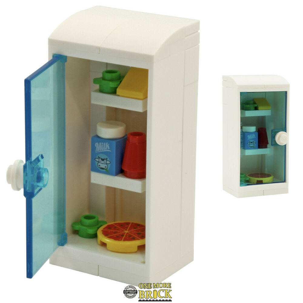 Lego Fridge Kitchen Fridge With Food Items Pizza Milk