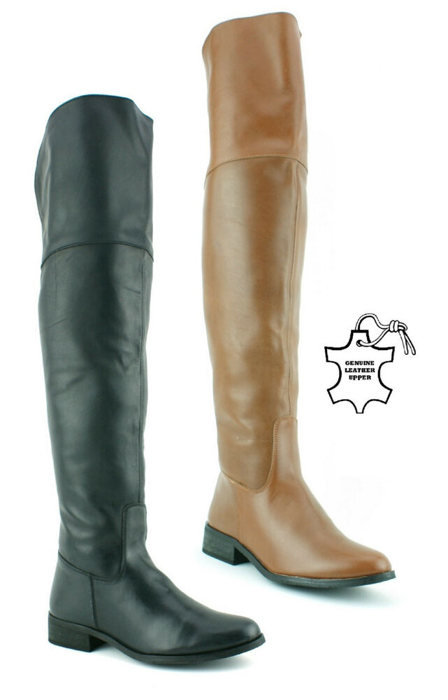 womens the knee thigh high real leather winter