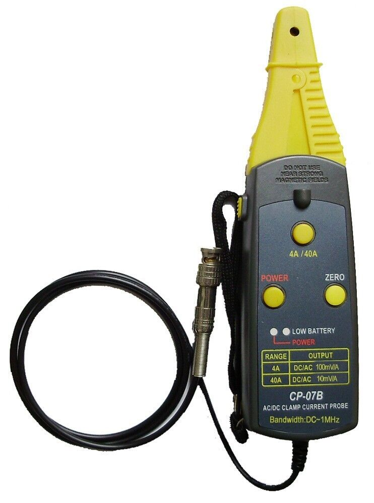 Ac Dc Current Probe : Cp b ac dc current clamp probe mhz a ebay